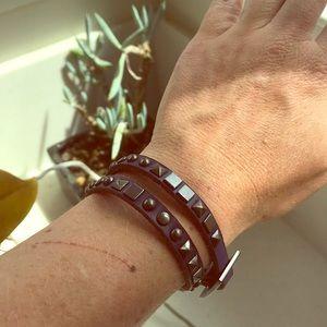 Jewelry - Purple leather bracelet